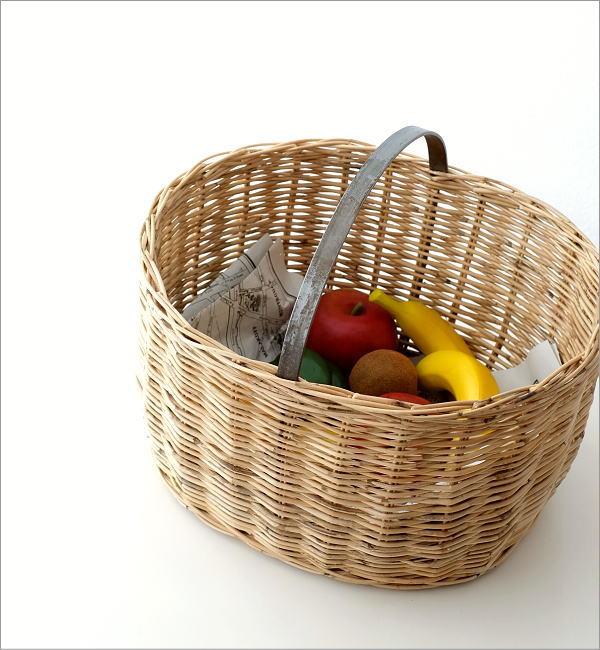 ラタンバスケットオーバル(1)