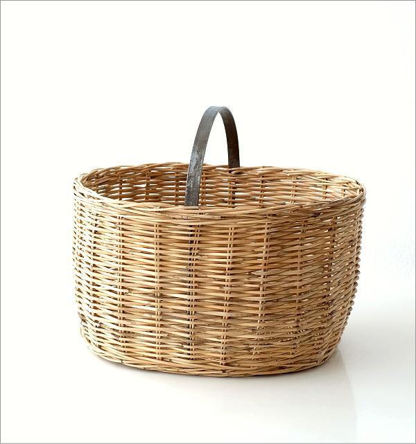 ラタンバスケットオーバル(4)