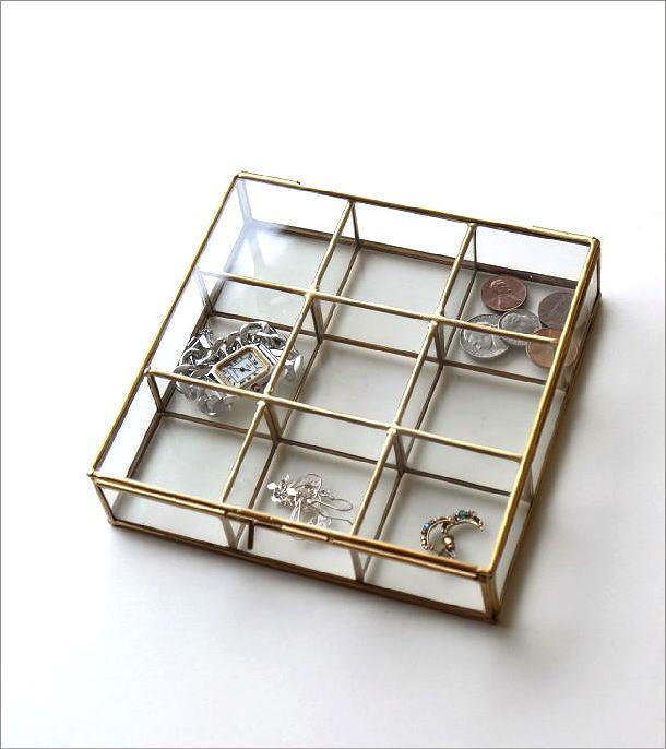 真鍮とガラスの9BOXケース(1)