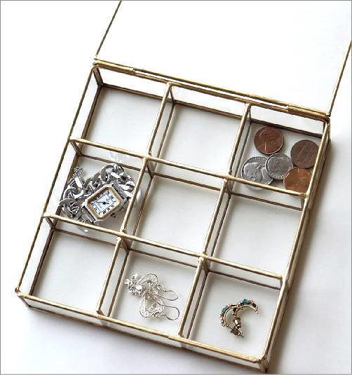 真鍮とガラスの9BOXケース(2)
