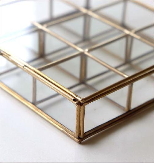 真鍮とガラスの9BOXケース(3)