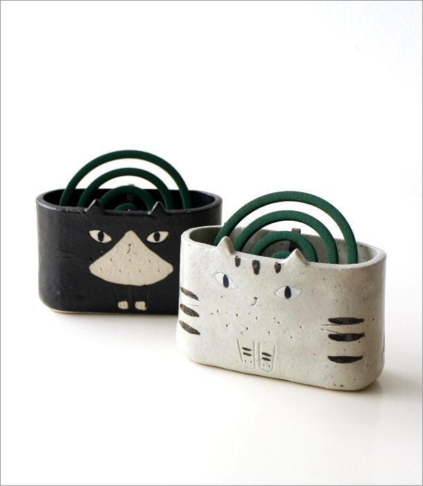猫の線香鉢2タイプ RK711.712(1)