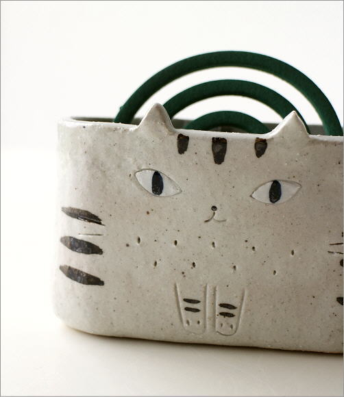 猫の線香鉢2タイプ RK711.712(2)
