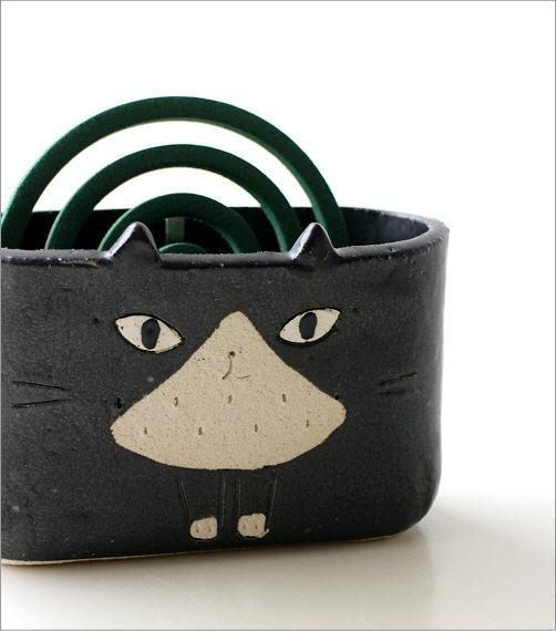 猫の線香鉢2タイプ RK711.712(3)