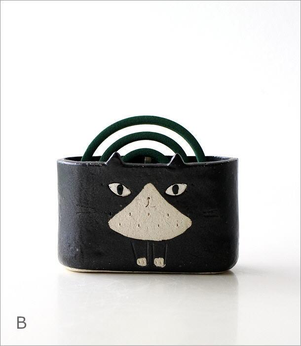 猫の線香鉢2タイプ RK711.712(6)