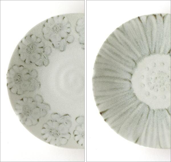プレート中皿 ホワイトフラワー2タイプ(2)