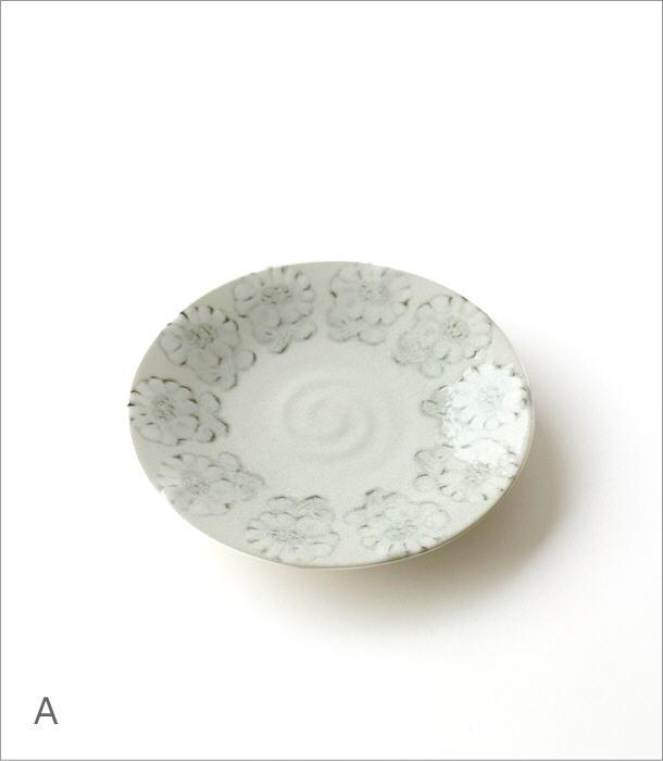 プレート中皿 ホワイトフラワー2タイプ(3)
