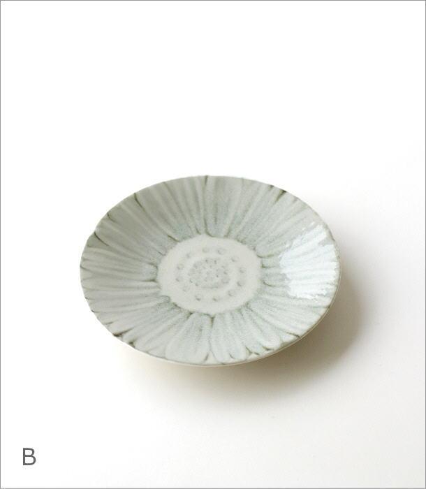 プレート中皿 ホワイトフラワー2タイプ(4)