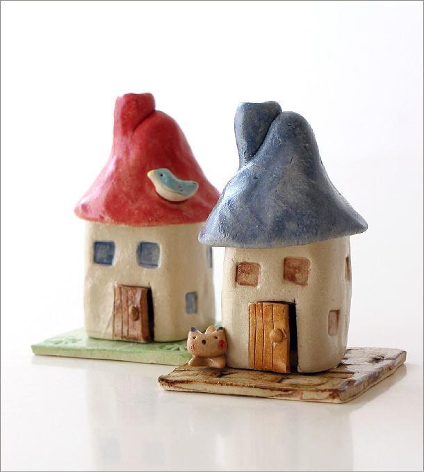 陶器の煙突家の香炉 2タイプ(1)