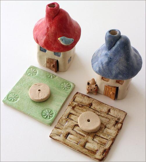 陶器の煙突家の香炉 2タイプ(2)