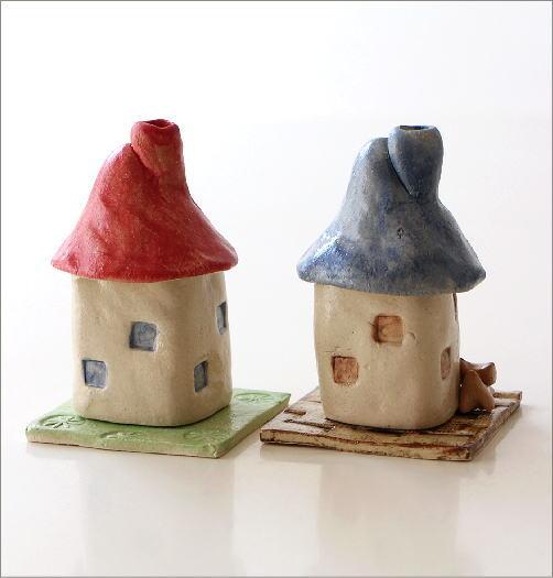 陶器の煙突家の香炉 2タイプ(4)