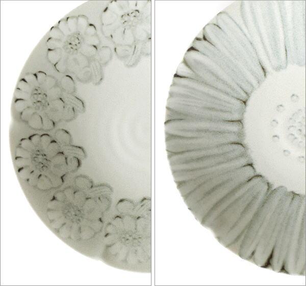 プレート深皿 ホワイトフラワー2タイプ(2)