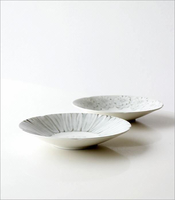 プレート深皿 ホワイトフラワー2タイプ(3)