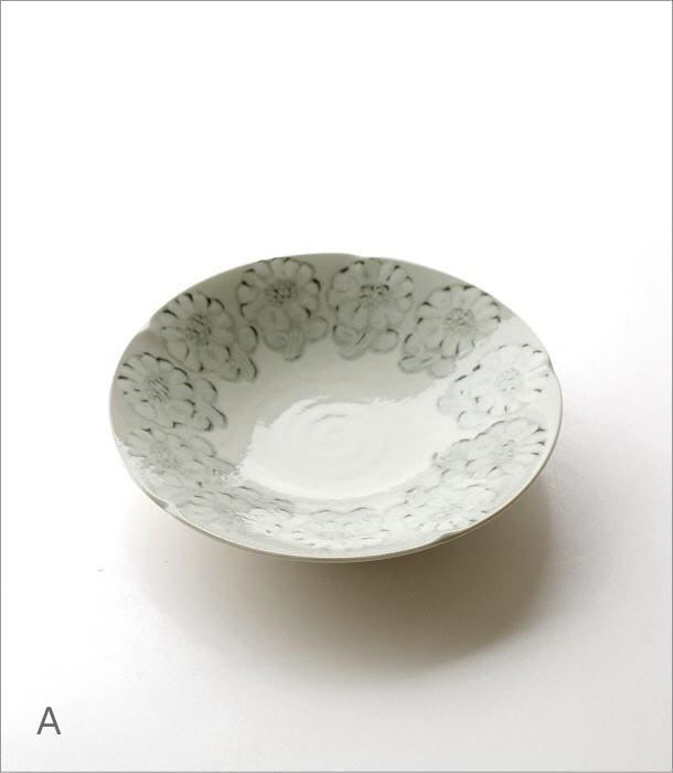 プレート深皿 ホワイトフラワー2タイプ(4)