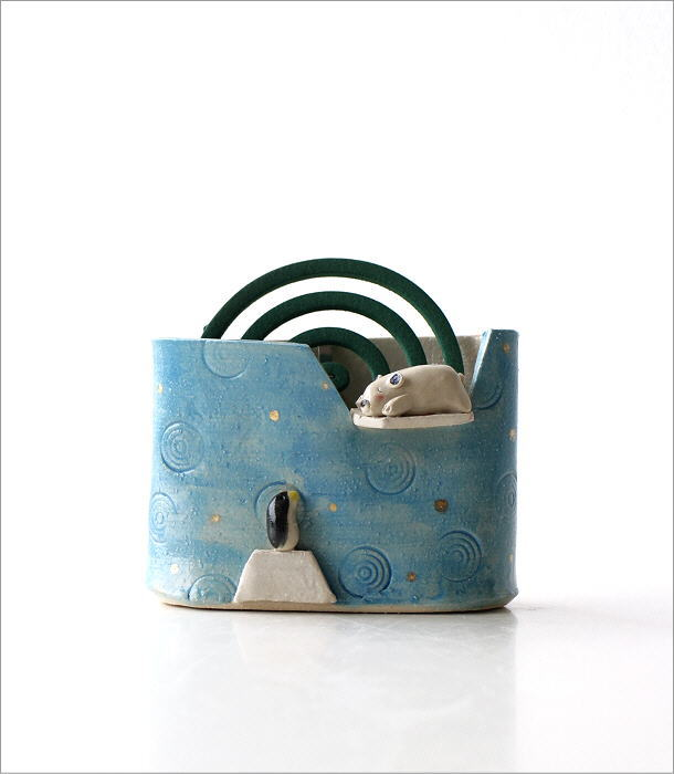 シロクマ線香鉢RK704(6)