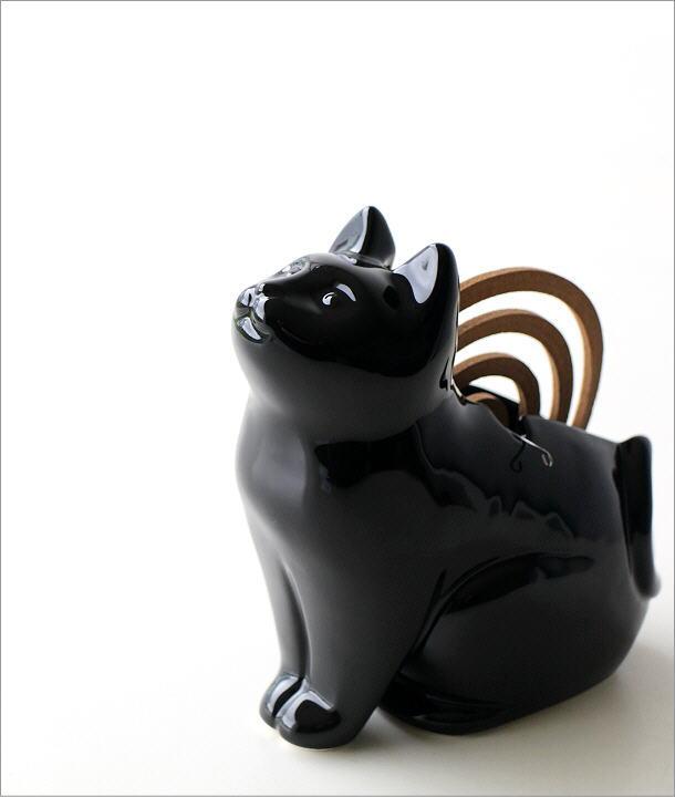 黒猫シルエット蚊遣り器 S29-811(1)