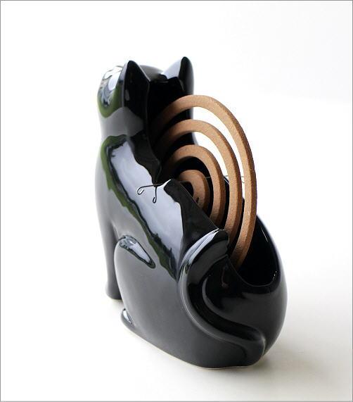 黒猫シルエット蚊遣り器 S29-811(3)