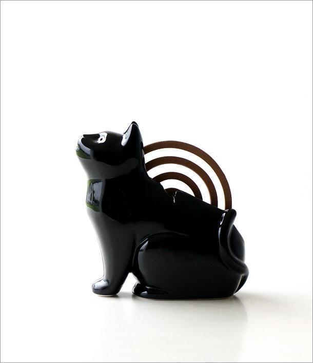 黒猫シルエット蚊遣り器 S29-811(6)