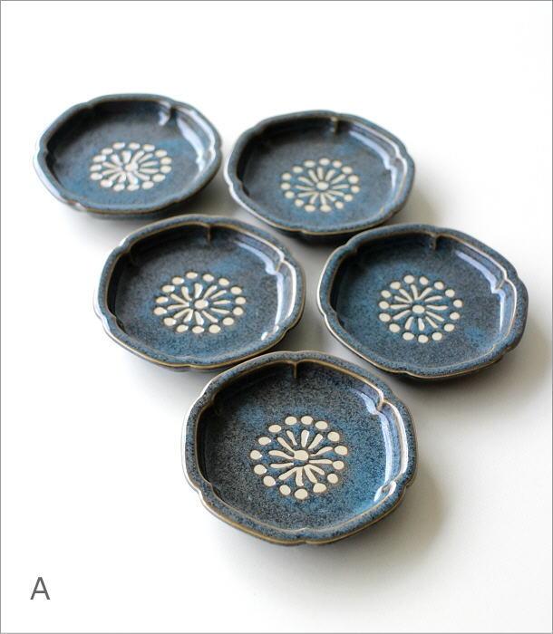 >花豆皿5枚セット 4カラー(3)