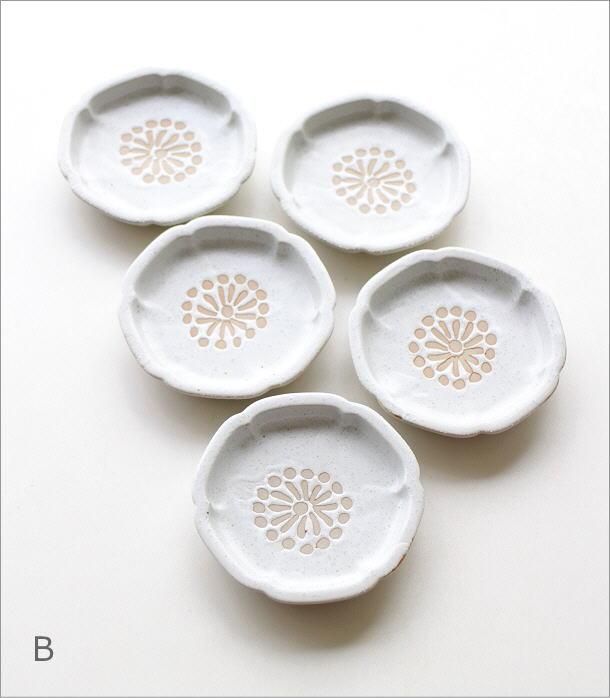 >花豆皿5枚セット 4カラー(4)
