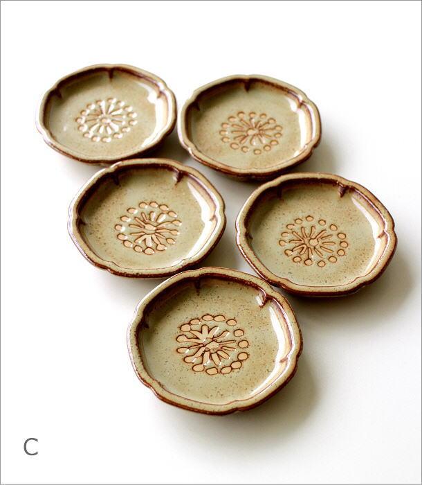 >花豆皿5枚セット 4カラー(5)