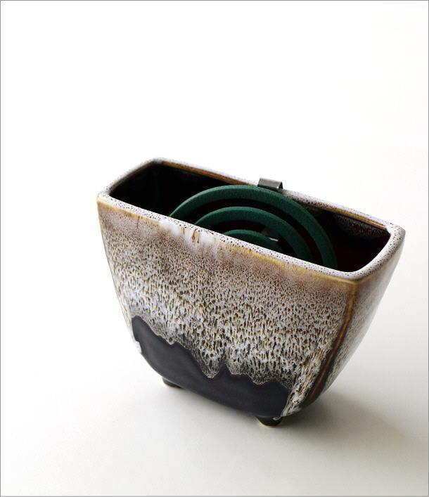 線香鉢(ブラウン)RK702(1)