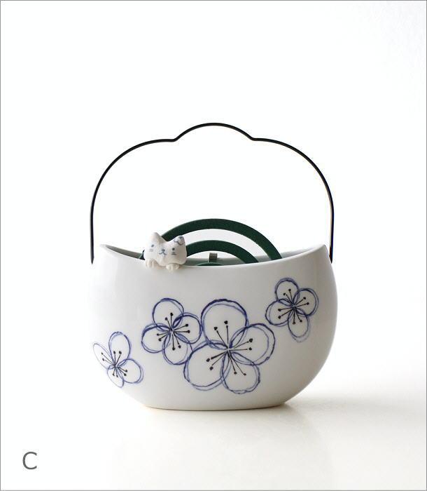 持ち手付き線香鉢3タイプ RK671.554.646(7)