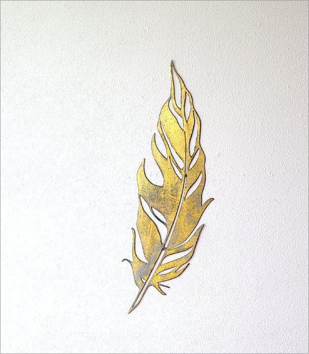 アイアンの壁飾り フェザーアクセント(2)