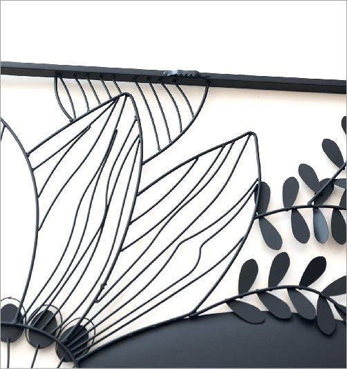 アイアンの壁飾り シルエットフラワーB(4)