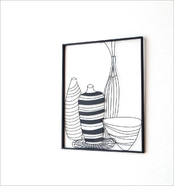アイアンの壁飾り 花瓶A(1)
