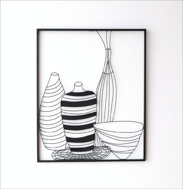 アイアンの壁飾り 花瓶A(5)