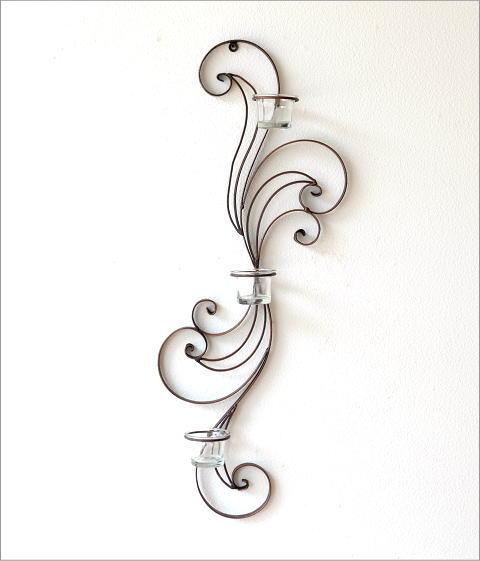 アイアンの壁飾り カール3カップ(4)