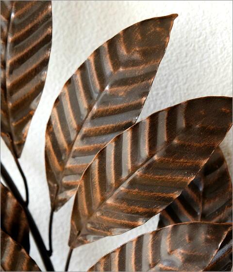 アイアンの壁飾り ブロンズリーフ(2)