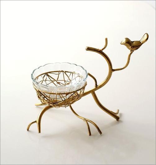 アイアンと小鳥のガラスボウル(4)