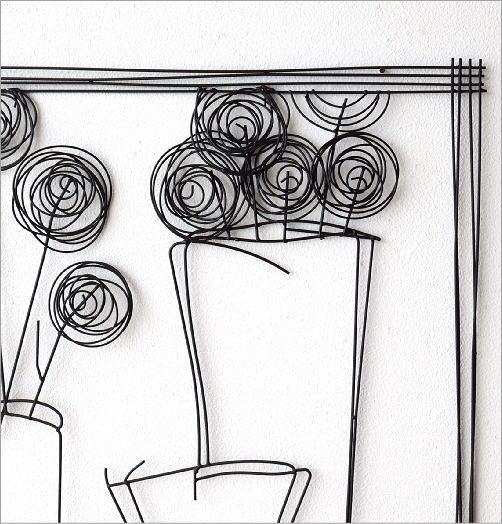 アイアンの壁飾り 花瓶B(2)