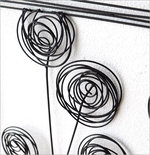 アイアンの壁飾り 花瓶B(3)