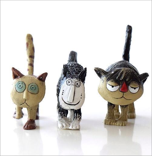 ユニークなネコの置物6個セット(3)