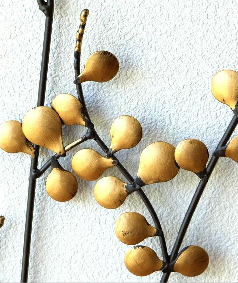 アイアンの壁飾り ゴールドリーフ(2)