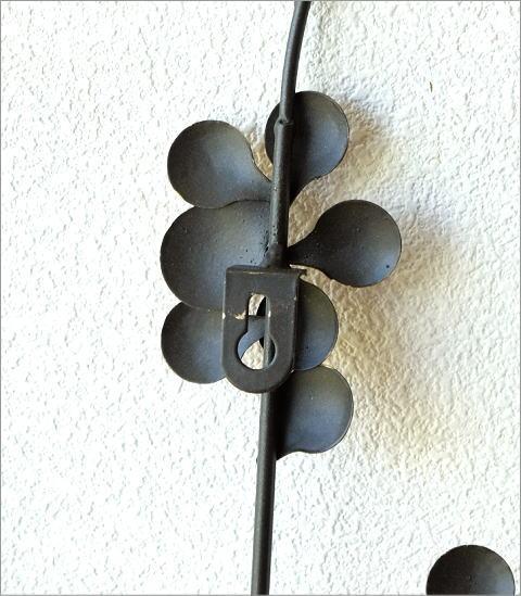 アイアンの壁飾り ゴールドリーフ(3)