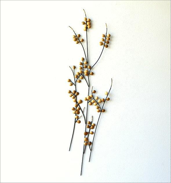 アイアンの壁飾り ゴールドリーフ(4)