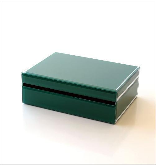 ビジュー付きガラスBOX(5)