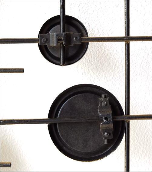 サークルミラーのアンティーク風壁飾り(3)