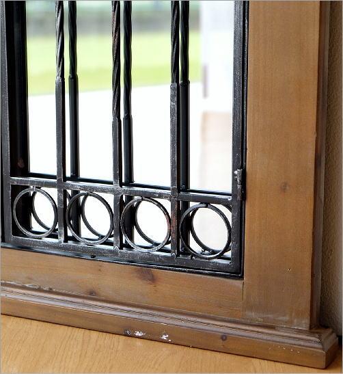 ウッドとアイアンの窓ミラー(4)
