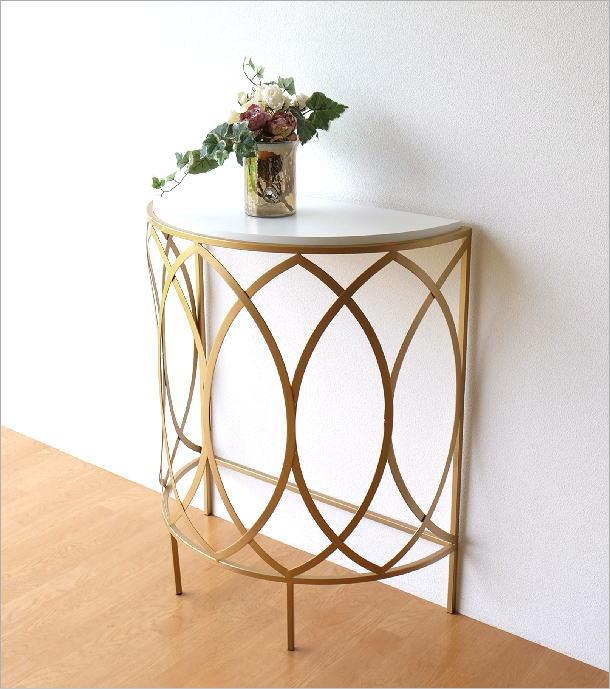 ゴールドアイアンのコンソールテーブル(1)