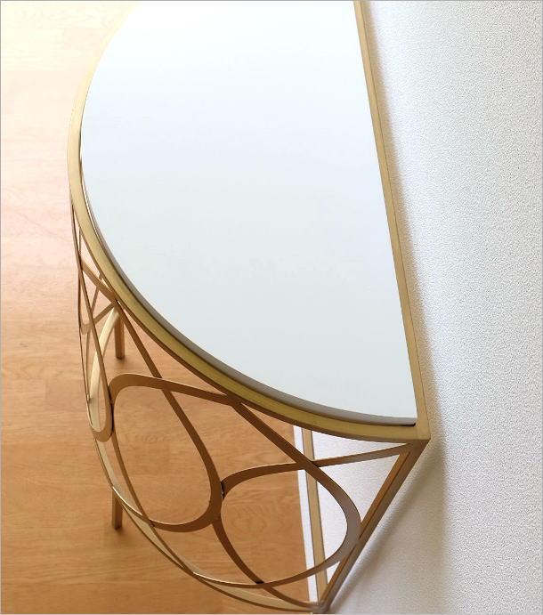 ゴールドアイアンのコンソールテーブル(2)