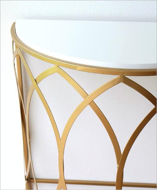 ゴールドアイアンのコンソールテーブル(3)