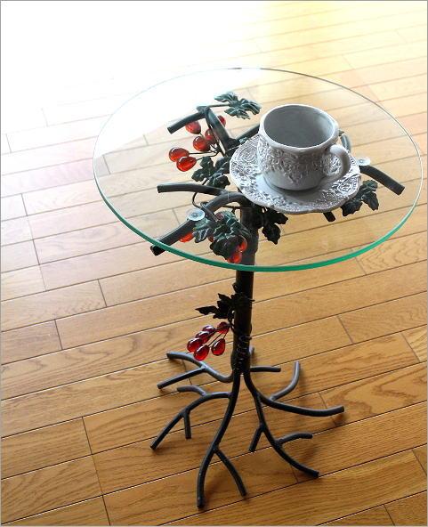 アイアンとガラスのテーブル グレープ(1)