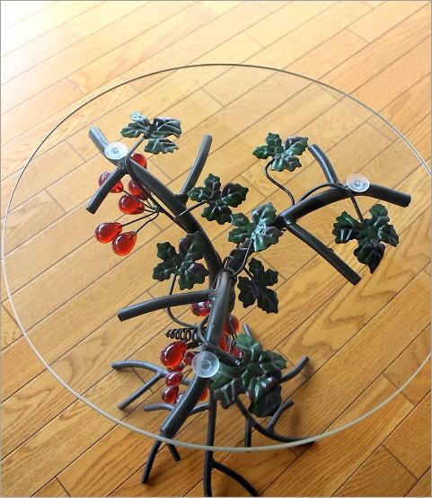 アイアンとガラスのテーブル グレープ(2)