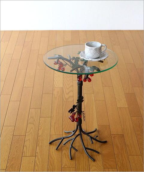 アイアンとガラスのテーブル グレープ(4)