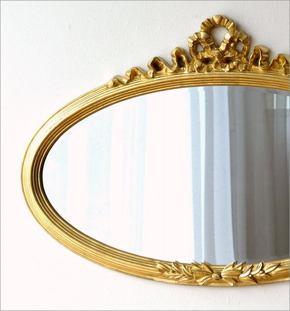 ゴールドリボンのオーバルミラー(1)